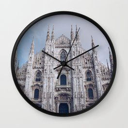 Milan Cathedral church on the background - italy lombardy. Wall Clock