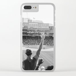 Red Sox Win Clear iPhone Case