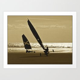 Yachting Chars à voile Art Print