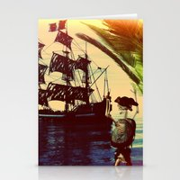 pirate ship Stationery Cards featuring pirate ship by Ancello