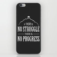 No Struggle, No Progress iPhone & iPod Skin