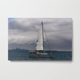 Cloudy Crusin' Metal Print