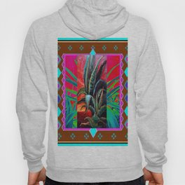 COLORFUL DESERT AGAVE CACTUS PAINTING Hoody