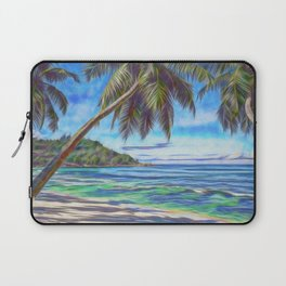 Tropical island beach Laptop Sleeve