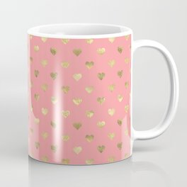 Heart of gold pink lips Coffee Mug