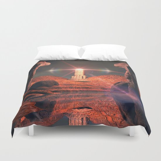 Mystical fantasy world Duvet Cover