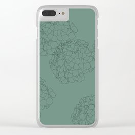 Blooming Botanical Floral Print Clear iPhone Case