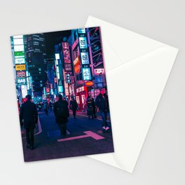 Take A Walk Under The Neon Stationery Cards