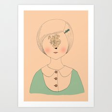Maiden Clavulina Cristata Art Print
