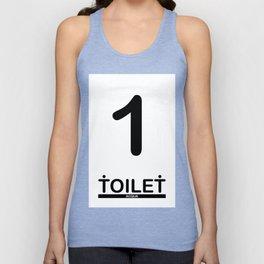 TOILET CLUB #1 Unisex Tank Top