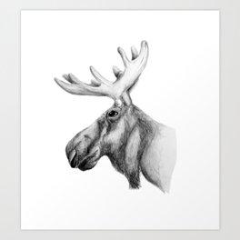 Moose Art Art Print