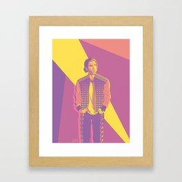 Retro Bucky Framed Art Print