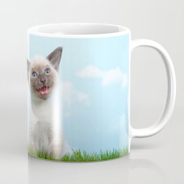 Siamese kitten singing Coffee Mug