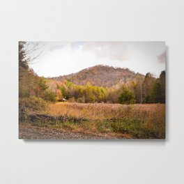 Hidden Cabin in the Mountains Metal Print