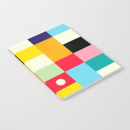 Geometric Bauhaus Pattern | Retro Arcade Video Game | Abstract Shapes Notebook