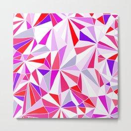 Crazy Geometry - Purple, Red & Pink Metal Print