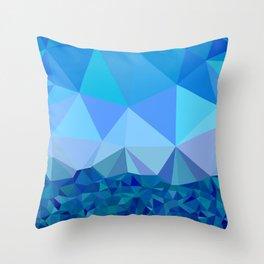 Skopelos winter Throw Pillow