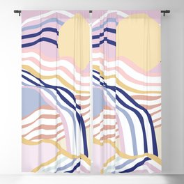 Abstract Summer Waves Blackout Curtain