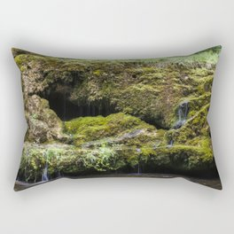 The Staburags cliff of Rauna Rectangular Pillow