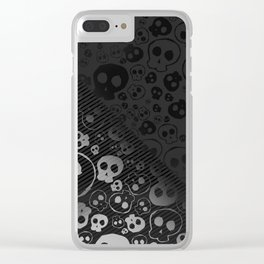 Skull Black Clear iPhone Case