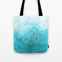 Fade to Teal - watercolor + doodle Tote Bag