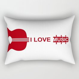 I love music #society6 #decor #buyart #artprint Rectangular Pillow