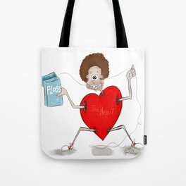 Floss and the heart Tote Bag