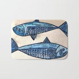 Blue fishes- Poissons bleus Bath Mat