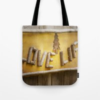 philosophy Tote Bags featuring Simple Philosophy by Kimberley Britt