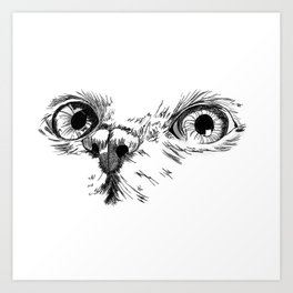 Cat face Art Print