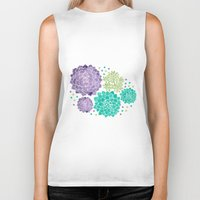succulents Biker Tanks featuring The Succulents by haidishabrina