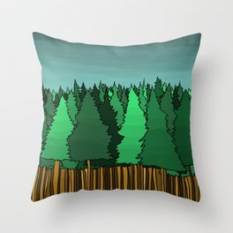 Forrest Under the Stars Throw Pillow