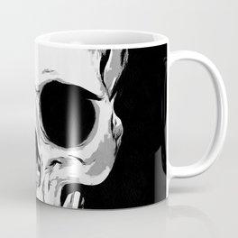 Monotone Skull Coffee Mug