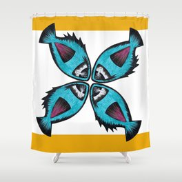 Fishie Fish Shower Curtain