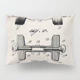 Weight Lifting Patent - Dumb Bell Art - Antique Pillow Sham