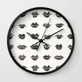 Kiss Collection – Black Ink Wall Clock