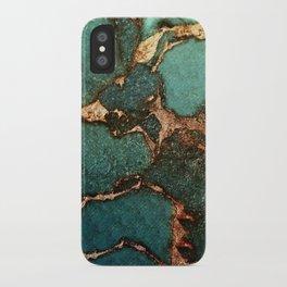 IZZIPIXX - EMERALD AND GOLD iPhone Case