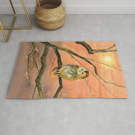 Colorful Owl Art Rug