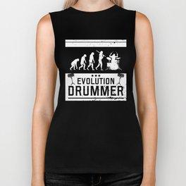 Evolution Drummer   Drums Musician Biker Tank