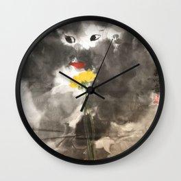 AU 1 - Yellow Rose Wall Clock