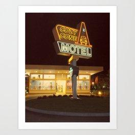 Cozy Cone Motel Art Print