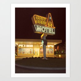 Cozy Cone Motel Art Print