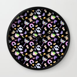 Star vs the Forces of Evil Pattern ( black ) Wall Clock