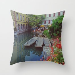 Colmar and its beautiful canals - Fine Arts Travel Photography Throw Pillow