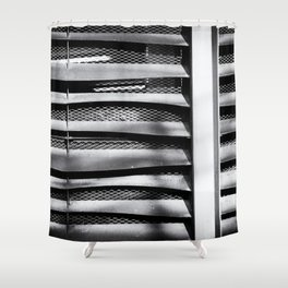 Angle of Venting I Shower Curtain