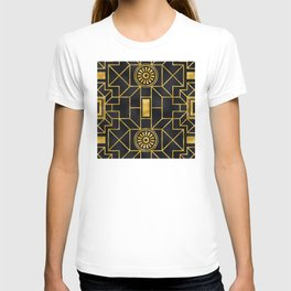 Sultry Art Deco Pattern: Covered in Moonlight's Shadows T-shirt