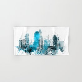 Charlotte Monochrome Blue Skyline Hand & Bath Towel