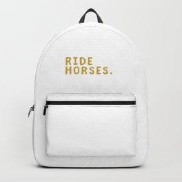 Eat Sleep Ride Horses Repeat Horseback Riding Backpack