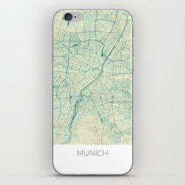 Munich Map Blue Vintage iPhone Skin