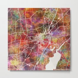 Saratoga Springs map Metal Print